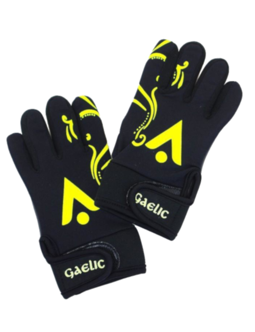 gaelic gloves karakal black juniors u6 kids