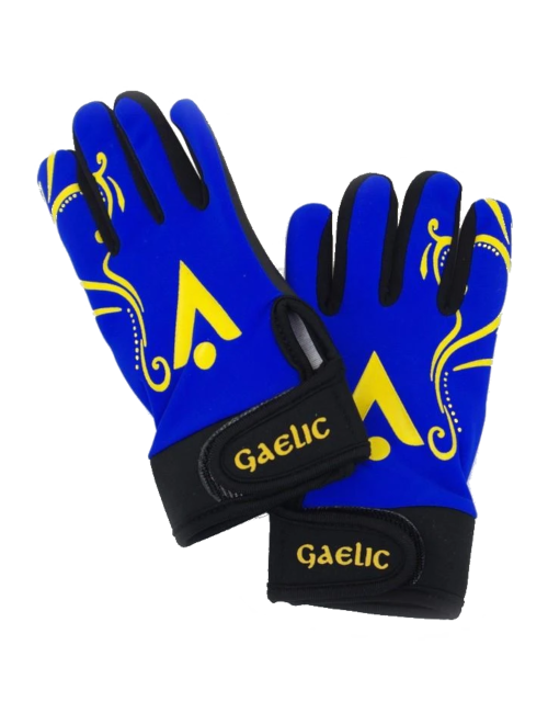 spot on sports kids football gloves blue