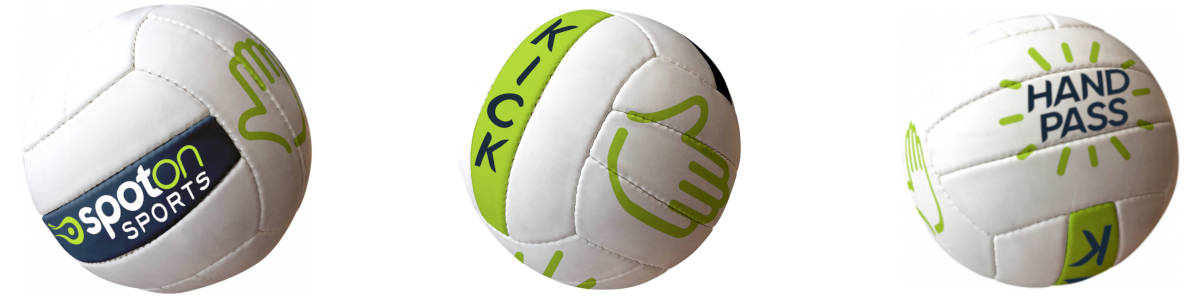 Spot on Football with hands for Kids ball